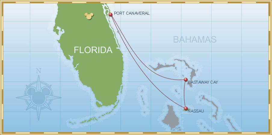 3-Night Bahamian Cruise B1   Port Canaveral Transportation on